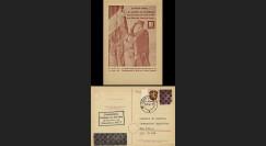 NEY46-3B : 1946 - France Entier postal de Lattre de Tassigny - 6Pf rose Hitler en cage