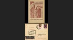 NEY46-3CD : 1946 - France Entier postal de Lattre de Tassigny - 6Pf rose Hitler en cage