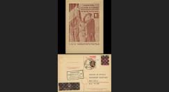 NEY46-3CF : 1946 - France Entier postal de Lattre de Tassigny - 6Pf rose Hitler en cage