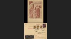 NEY46-3D : 1946 - France Entier postal de Lattre de Tassigny - 6Pf rose Hitler en cage