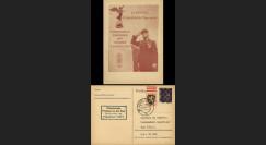 NEY46-1E : 1946 France Entier postal de Goislard de Monsabert - 6Pf violet Hitler en cage