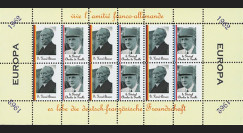 FRAL-2FD : 1962 - Feuillet EUROPA Vive l'amitié franco-allemande / de Gaulle et Adenauer