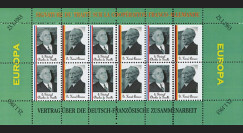 FRAL-3FD : 1963 - Feuillet EUROPA Signature Traité franco-alld / de Gaulle et Adenauer