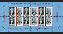 FRAL-7FD : 1967 - Feuillet EUROPA Coopération franco-allemande / de Gaulle et Kiesinger