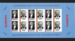 FRAL-7FND : 1967 - Feuillet EUROPA Coopération franco-allemande / de Gaulle et Kiesinger