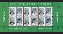 FRAL-9FD : 1967 - Feuillet EUROPA - La philatélie sans frontières / de Gaulle et Kiesinger