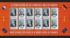 FRAL-11FD : 1969 - Feuillet EUROPA - La philatélie sans frontières / de Gaulle et Kiesinger