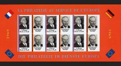 FRAL-11FND : 1969 - Feuillet EUROPA - La philatélie sans frontières / de Gaulle et Kiesinger
