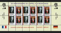 FRAL-13FD : 1970 - Feuillet EUROPA - 30 ans Appel du Gal de Gaulle / Pompidou et Brandt