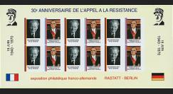 FRAL-13FND : 1970 - Feuillet EUROPA 30 ans Appel du Gal de Gaulle / Pompidou et Brandt