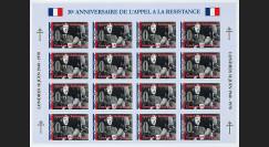FRAL-14FND : 1970 - Feuillet DE GAULLE - 30e anniversaire de l'Appel à la Résistance 1940
