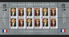 """FRAL-17FD : 1971 - Feuillet """" A la mémoire du Général DE GAULLE """" / Président Pompidou"""