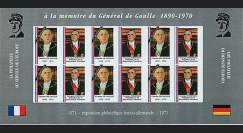 """FRAL-17FND : 1971 - Feuillet """"A la mémoire du Général DE GAULLE """" / Président Pompidou"""