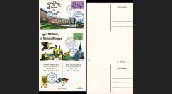 FRAL-3 : 1963 - Triptyque Baden Baden EUROPA Exposition FFA / de Gaulle et Adenauer