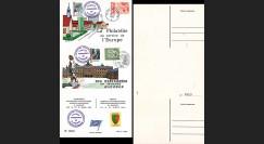 FRAL-6 : 1966 - Triptyque Rastatt EUROPA - Exposition FFA / de Gaulle et Erhard