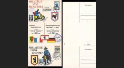 FRAL-10 : 1968 - Triptyque Berlin EUROPA - Exposition FFA / de Gaulle et Kiesinger