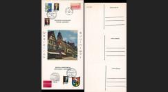 FRAL-17 : 1971 - Triptyque Oberkirch - IN MEMORIAM DE GAULLE / Pompidou et Brandt