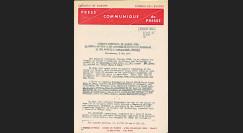 CE26CP : 1974 - Communiqué de presse C. Duke au Conseil - Drapeau de l'Europe lunaire