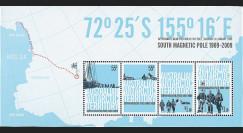 AAT-09B : 2009 - Bloc Terr. Antarctique Australien 100 ans découverte Pôle Sud magnétique