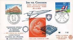 COAF79-4-28 : 1979 - FFC 1er vol Concorde Air France Paris - Bâle-Mulhouse - Paris