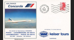 COAF82-5-20 : 1982 - FFC 1er vol Concorde Air France Paris - Luxembourg - Paris