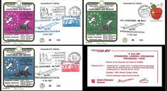 PE135 : 1987 - 3 FFC Concorde Air France Vol pour 30 ans de Signature du Traité de Rome