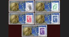 PE624-PT1-5 : 2011 - 5 porte-timbres Parlement européen : Prix Nobel de la Paix pour l'UE