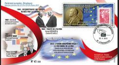 PE624 : 2012 - FDC Parlement européen Prix Nobel de la Paix décerné à l'Union européenne