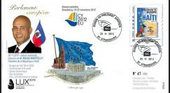 """PE625 : 2012 - FDC Parlement européen """"Discours de M. Martelly"""