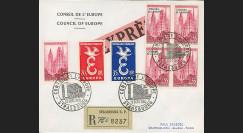 CE9-PJ1J : Env. Reco/Express 1er Jour timbres Conseil de l'Europe et Europa 13.09.1958
