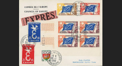 """CE10-PJ2-4EX : Env. Exprès Conseil de l'Europe """"Affranchissement provisoire"""" 20.01.1959"""