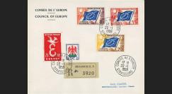 """CE10-PJ2-4R : Env. RECO Conseil de l'Europe """"Affranchissement provisoire"""" 22.01.1959"""