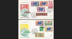 """RD10 : 2 env. Exprès et RECO CE """"Libéralisation de l'emploi des TP de service"""" 25.03.1960"""