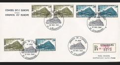 CE31-PJa : Enveloppe RECO 1er Jour timbres de service Conseil de l'Europe 22.11.1980