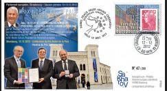PE626 : 2012 - FDC Parlement européen Remise du Prix Nobel de la Paix à l'UE - Oslo