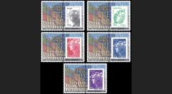 PE626-PT1-5 : 5 porte-timbres Parlement européen