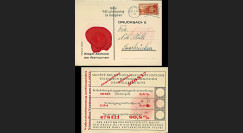 """W2-AL0710 : Carte de vote officielle """"Référendum du 13.1.1935 sur l'annexion de la Sarre"""""""
