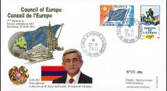 CE62-IIIAT2 : 06-2011 - FDC Conseil de l'Europe Discours de M. Sarkissian