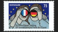 """PE629-N : 2013 - (Allemagne) Emission commune franco-allde """"50 ans Traité de l'Elysée"""""""