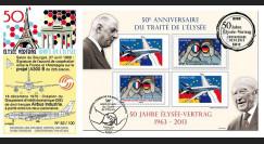 """PE629 : 2013 - FDC 1er Jour France-Allemagne """"50 ans Traité Elysée"""" - Airbus A380"""