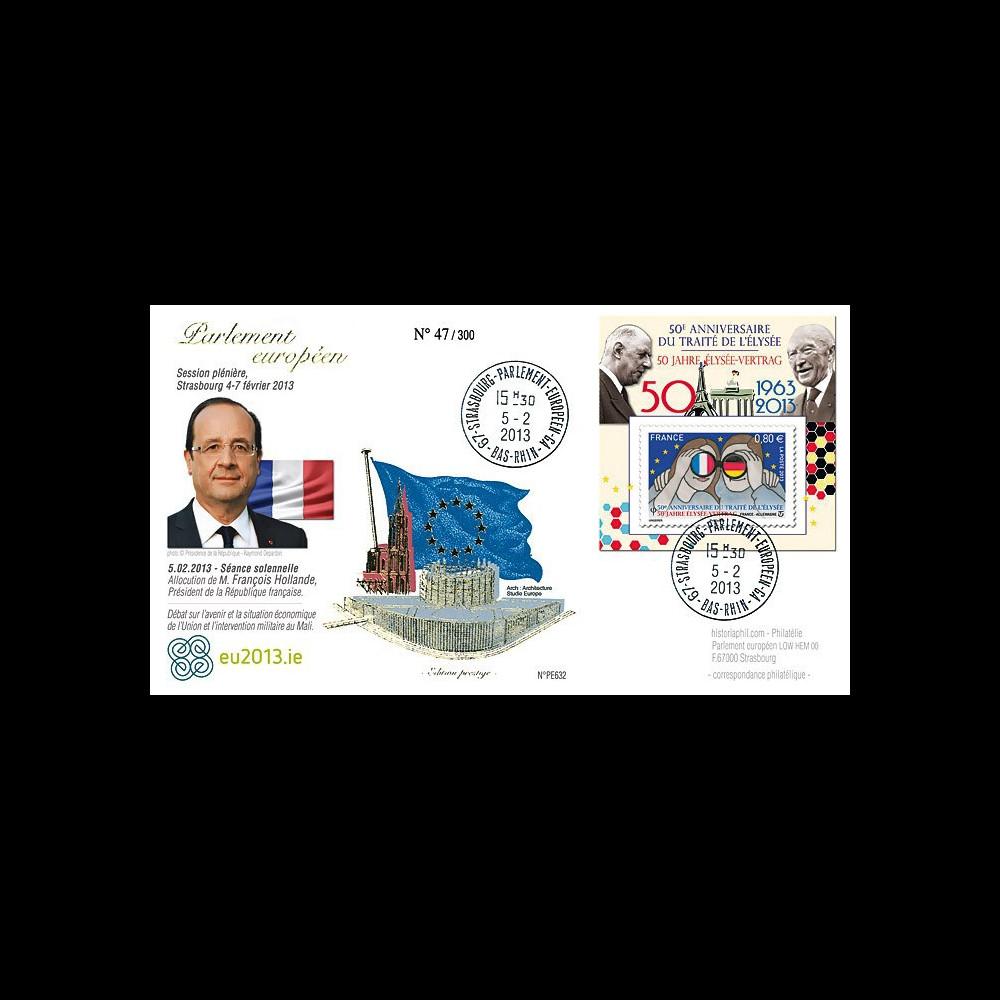 """PE632 : 2013 - FDC Parlement européen """"M. Hollande"""