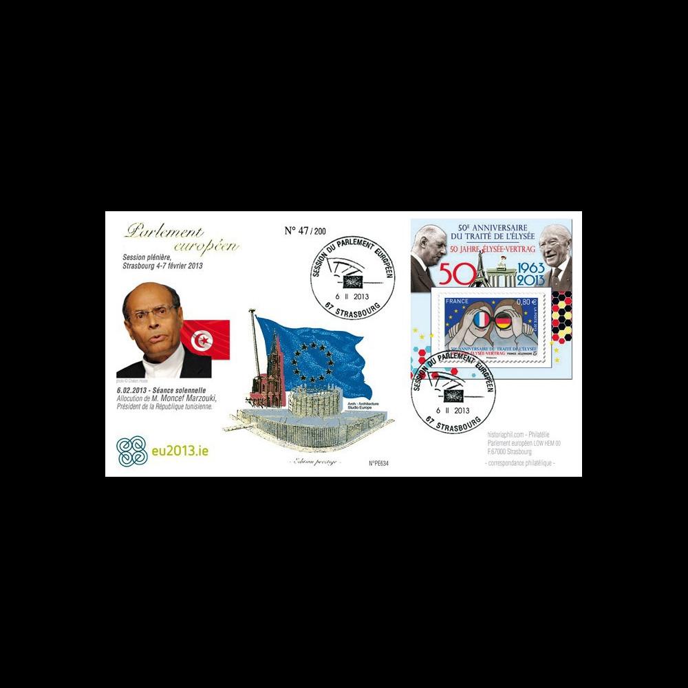 """PE634 : 2013 - FDC Parlement européen """"M. Marzouki"""