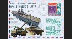 "MALI13-14 : 2013 - FDC MALI ""Opération SERVAL Mali / BPC DIXMUDE - AMX-10RC & VBCI"""