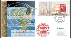 MALI13-10 : 2012 FDC Soyouz VS04 satellite PLEIADES-1B - OPERATION SERVAL Mali