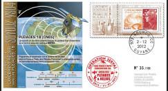 MALI13-10 : 2012 - FDC Soyouz Vol N°04 - Pléiades 1B renseigne l'opération Serval au Mali