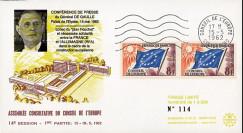 """CE14-I : 1962 - FDC CE """"de Gaulle rappelle la nécessité d'une amitié franco-allemande"""""""