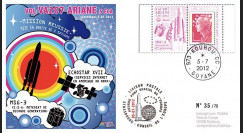VA207L-T1 : 2012 - FDC Kourou ARIANE 5 Vol 207 - EchoStar XVII et MSG-3 (Meteosat)