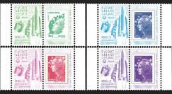 """VA207L-PT1/4 : 2012 - Série de 4 Marianne sur porte-timbres """"Vol 207 Ariane - MSG-3"""""""
