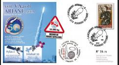 VA208L-T2 : 2012 FDC Kourou ARIANE 5 Vol 208 - Hylas-2 / Intelsat 20 - 50e succès d'affilée