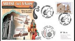 VA209L-T2 : 2012 - FDC Kourou ARIANE 5 Vol 209 - Astra 2F (Luxembourg) et GSAT-10 (Inde)